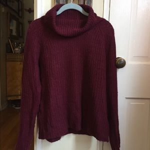 Bordeaux Acrylic Knit Turtleneck Sweater ❤️💜